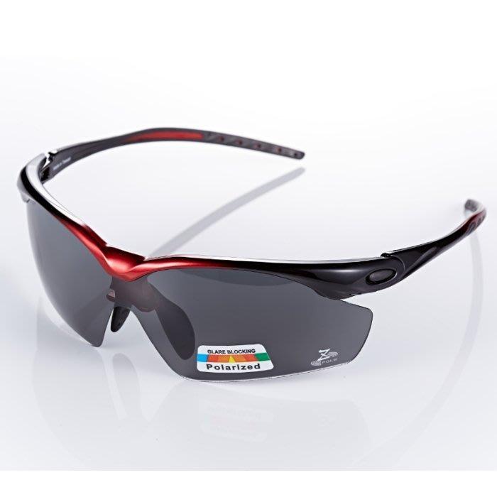 【視鼎Z-POLS太空纖維三代款】新一代TR彈性輕量材質 搭載100%Polarized頂級偏光運動眼鏡!(黑紅漸層款)