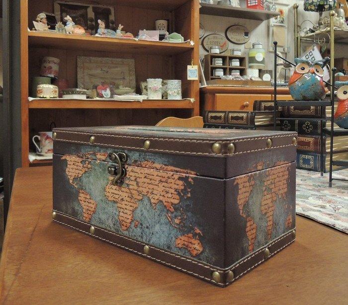 仿舊工業風面紙盒套 地圖圖案面紙盒 世界地圖面紙盒 仿古地圖面紙盒 抽取式衛生紙盒 人造皮革面紙盒 硬殼面紙盒 面紙套