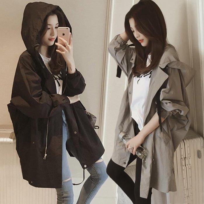 風衣中長款風衣外套女春秋新款韓版bf學生寬鬆大碼百搭休閒棒球服