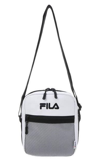 【Shopa】現貨 特價 日本 FILA 2018 秋冬 尼龍 經典 LOGO 包包 小包 斜背包 黑 白