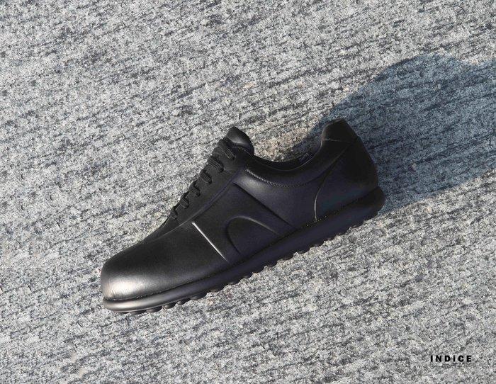 INDiCE↗ CAMPER GORE-TEX Pelotas K100150 防水輕量皮革休閒鞋 黑 加贈原廠米色鞋帶