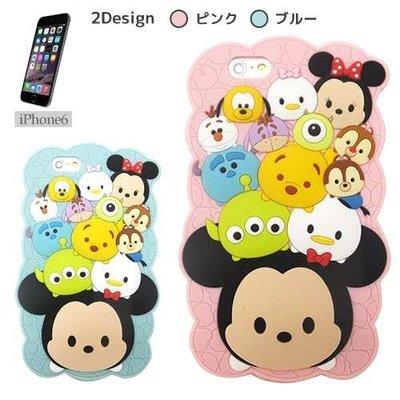 尼德斯Nydus~* 日本正版 迪士尼 TSUM Q版 米奇 米妮 矽膠軟殼 手機殼 保護殼 4.7吋 iPhone 6
