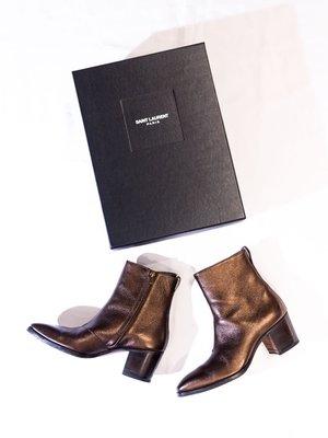 Saint Laurent Paris Patent leather high boots.聖羅蘭 YSL 靴子