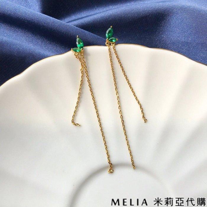 Melia 米莉亞代購 商城特價 數量有限 每日更新 DY YEE 飾品 耳環 綠嫩芽 微鍍18K真金 優雅 精緻