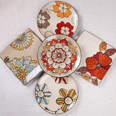 陶瓷餐盤 創意西餐盤(任兩款)-釉下彩手工繪製8.5寸居家廚房用品5款73h14[獨家進口][米蘭精品]