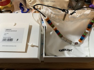 4折賠售限量 AMBUSH Silver-Tone And Bead Necklace 方塊字母 彩色 串珠 項鍊 手環