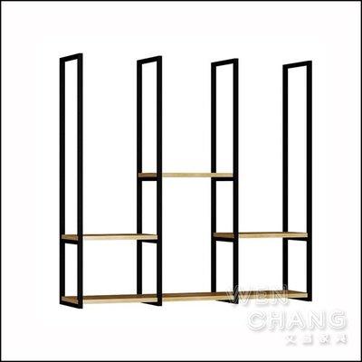 訂製品 LOFT 工業風 吊頂置物架 實木吊架 CU071 *文昌家具*