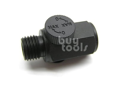 BuyTools-氣動工具用風量調整扭/氣動進氣量無段調整/空壓機風量控制、適用各種氣動工具、20PM內外牙接頭「含稅」