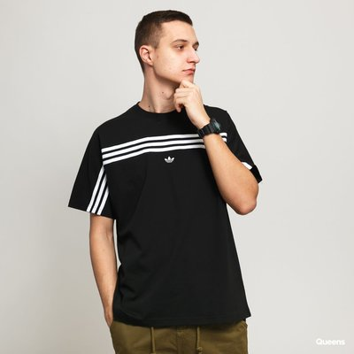 【吉米.tw】Adidas originals 3-STRIPES TEE 黑 愛迪達 三條 短袖 FM1535 MAR