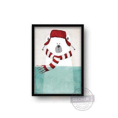 【Decker • 德克爾家飾】時尚餐廳壁畫 現代風格家飾 可愛動物掛畫  掛飾裝飾 清新掛畫 - 冰雪世界 G款