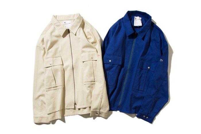 { POISON } DeMarcoLab GMS #2 ZIP JKT 酵素石洗進口純棉斜紋面料 寬版拉鍊夾克