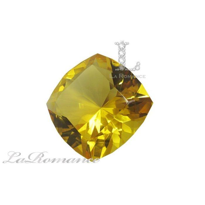 【芮洛蔓 La Romance】璀璨方型水晶鑽 – 金黃 / 招財 / 聚財 / 王者之尊