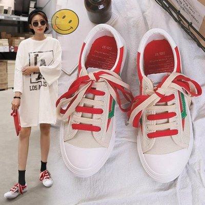 哆啦本鋪 1970S復古港味鞋子女正韓INS超火帆布鞋原宿風CHIC小白鞋百搭板鞋D655