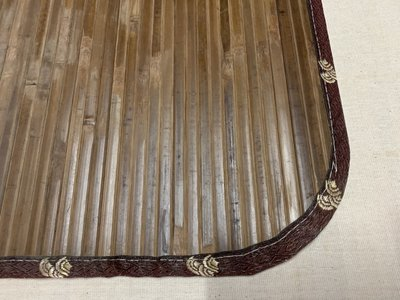 【鹿港竹蓆】11mm 碳青 (碳化 大青) 竹蓆 6呎×6呎(加大雙人) 100%台灣製造