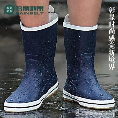 雨靴 男士中筒時尚雨鞋男式雨靴防水鞋釣魚橡膠鞋防滑戶外套鞋春夏透氣   全館免運