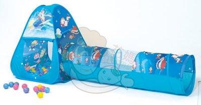 ☆╮花媽╭☆ 親親-海洋世界三角帳篷球屋+隧道+100顆球(彩盒裝) CBH-03