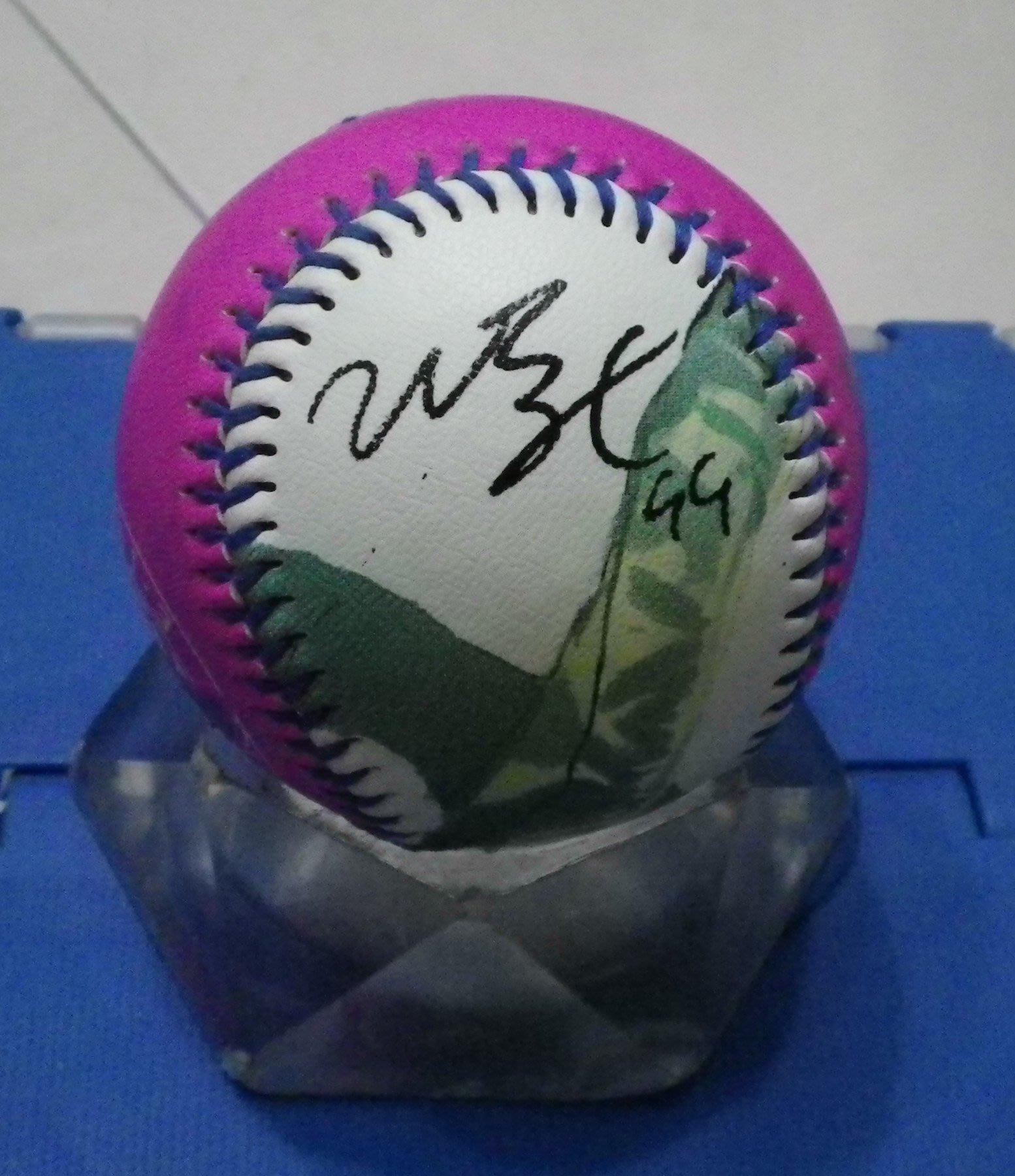 棒球天地---賣場唯一--- 義大犀牛 曼尼 Manny Ramirez 簽名肖像球.字跡漂亮..只有1顆