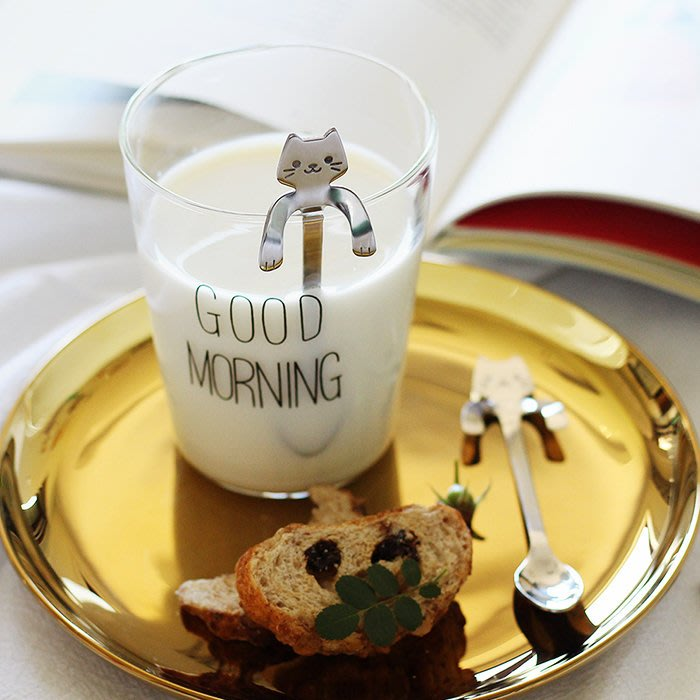 MAJ.POINT-湯匙 勺 不鏽鋼 攪拌棒 日式ZAKKA 貓咪 咖啡 冰沙牛奶棒 居家擺設佈置 商品代購 現貨+預購