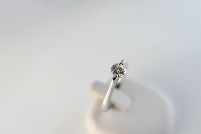 [吉宏精品交流中心]35分 天然鑽石 白K金 造型 戒指(公關禮物)