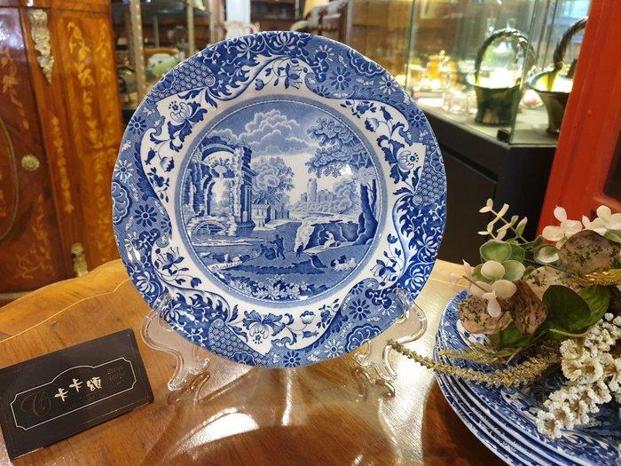 【卡卡頌 歐洲跳蚤市場/歐洲古董】※活動特價※英國老件_Spode 老件未用 青花瓷 Italian 瓷盤p1443✬