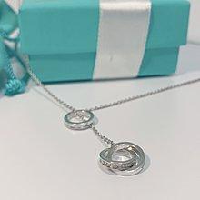 Tiffany 1837 鎖環圓圈 3圈 y字鍊 項鍊