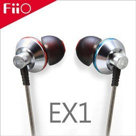 【風雅小舖】【FiiO EX1鈦晶振入耳式耳機】可搭配iPhone6/iPod/X1/X3第二代/X5第二代播放器使用