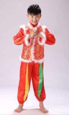 儿童元旦喜庆秧歌表演出服装幼儿中国结开门红灯笼舞蹈服装圣诞节