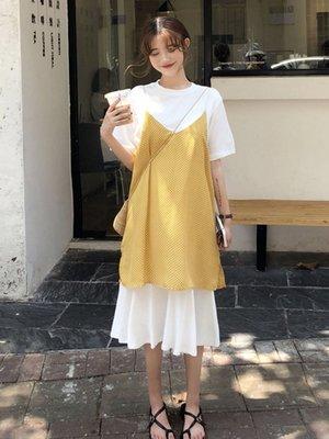 法國小眾兩件套很仙的裙子仙女超仙森系甜美套裝洋氣時尚連衣裙夏-青木居家
