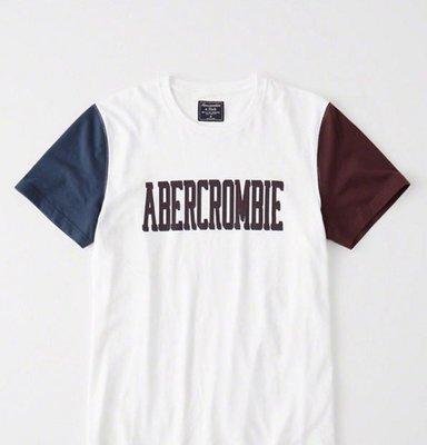 Abercrombie and Fitch A&F 男生牛角短tee  酒紅 /藍 印刷圖案 全新正品 美國購回 現貨在台 M號ㄧ件