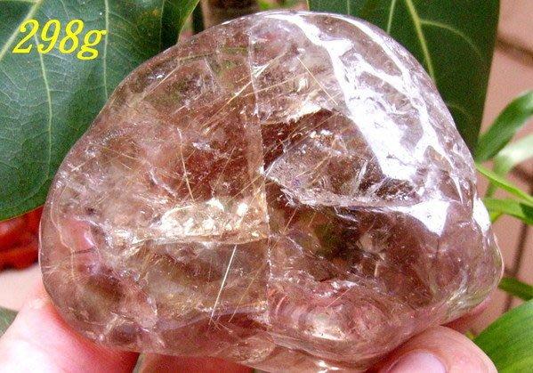 小風鈴~超人氣天然高檔巴西鈦晶礦石~精選鈦晶原礦(重:298g)