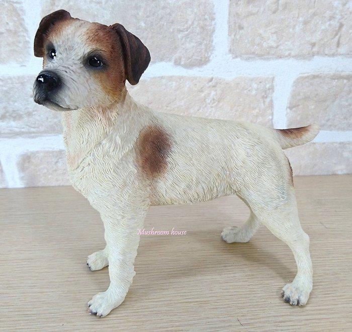 點點蘑菇屋 歐洲精品杰克羅素小獵犬擺飾 小狗狗 動物擺飾 珍藏可愛家飾 禮物 禮品 鄉村風雜貨 現貨