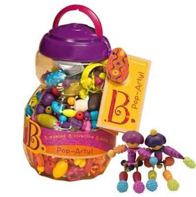 【小糖雜貨舖】美國 B.Toys 布萊斯特-波西米彩珠派對(500PC) / 波普珠珠 Pop-Arty