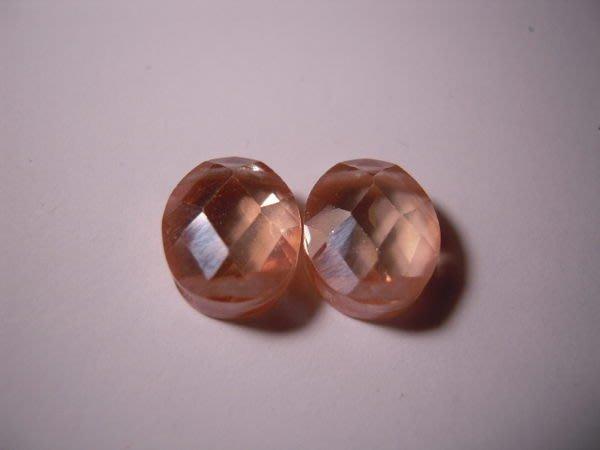 ※布箱子※ 串珠材料手作配件~寶石級橢圓形鋯石(B977)