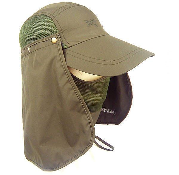 嘉芸的店 日本防曬帽 360度全面遮陽 口罩 脖子 臉部 抗UV遮陽帽 輕量 涼感 透氣(男女通用)