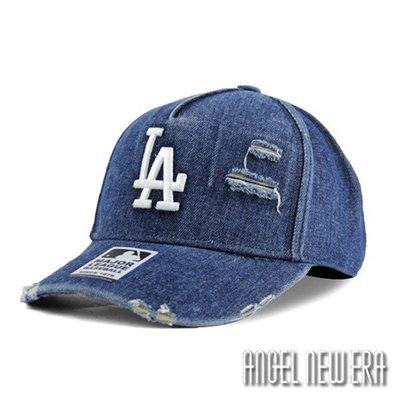 【PD帽饰】【MLB Old Fashioned Cap】LA 道奇 單寧 破壞布 卡車帽 老帽【ANGEL NEW ERA 】
