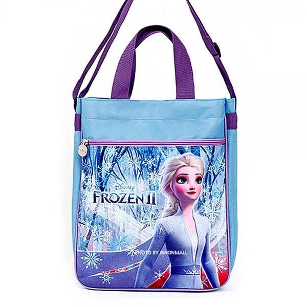 ♀高麗妹♀韓國 Disney FROZEN II 冰雪奇緣2 可背可提2用雙層手提袋/便當袋/補習袋/文具袋F款(預購)