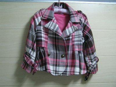 丹丹衣坊--英倫風短版毛料外套