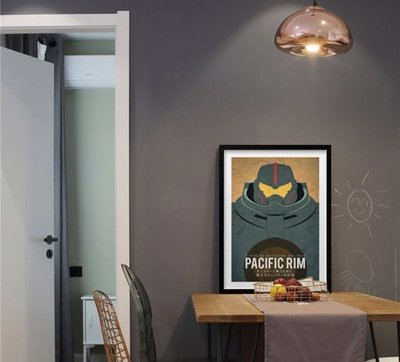 INHUASO 癮|畫|所 環太平洋2電影海報掛畫PacificRim機器人掛畫客製掛畫住宅空間設計裝飾品掛畫收藏裝飾畫