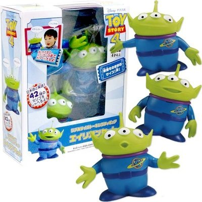 尼德斯Nydus 日本正版 迪士尼 玩具總動員 三眼怪 外星人 經典造型人物公仔 等比例公仔 擺飾 發聲玩具 約33cm