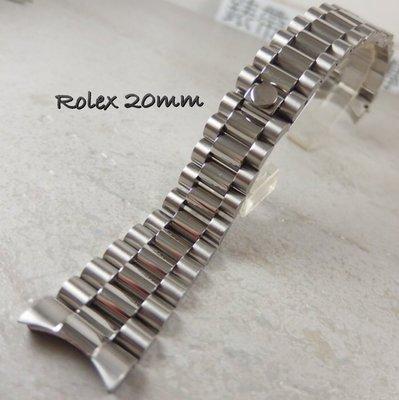 錶帶屋 20mm不銹鋼錶帶實心圓弧頭代...