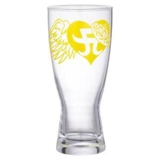 濱崎步日本演唱會周邊a-nation'08 限量啤酒杯 (黃色)
