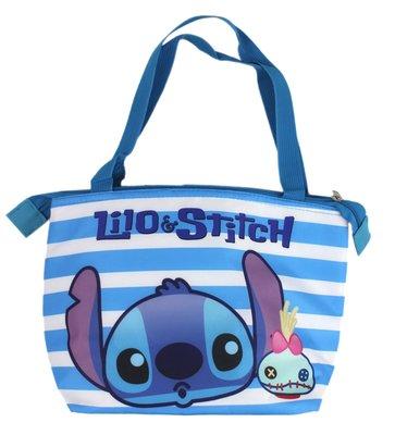 【卡漫迷】 史迪奇 保溫袋 條紋 ㊣版 星際寶貝 Stitch 醜丫頭 Scrump 手提袋 野餐 保冷袋 餐袋 便當袋