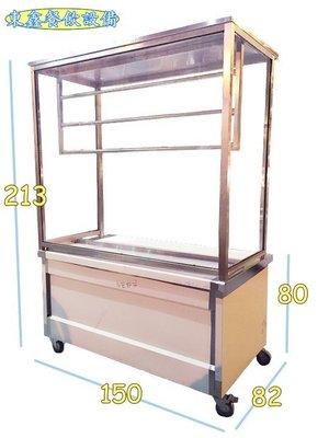 ~~東鑫餐飲設備~~ 全新 5尺吊鴨台 / 吊鴨櫥 / 燒臘台子 / 烤鴨台 / 食物展示台