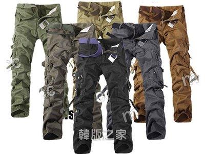 工裝褲長褲時尚大口袋長褲 最大到42腰 A533