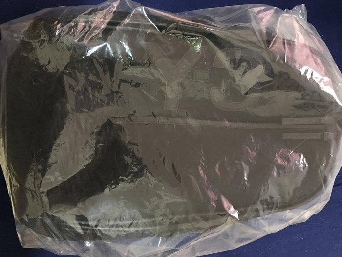 Y-3 山本耀司 拼接設計尼龍後背包 黑色