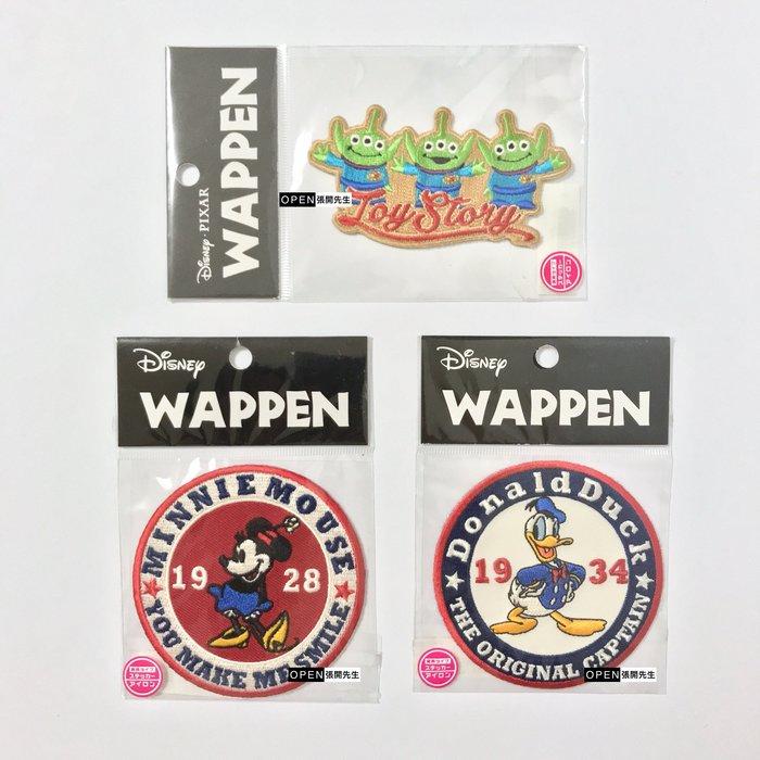 【張開先生】日本帶回 迪士尼 熨燙 徽章 布貼 三眼怪/米妮/唐老鴨