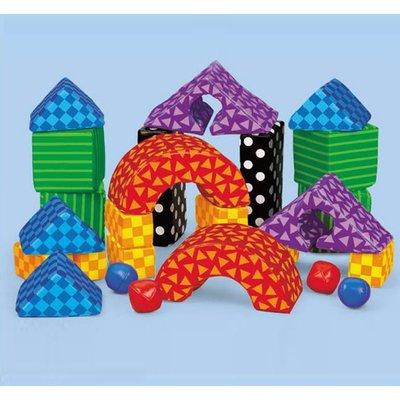 【晴晴百寶盒】美國進口 寶寶幾何積木 LAKESHORE 尋寶遊戲感統教具益智遊戲環保無毒玩具遊戲感官W307