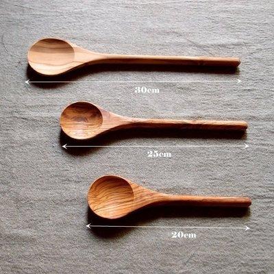₪青田生活製品₪ 橄欖木長柄圓匙 (30cm) stirring wooden spoon