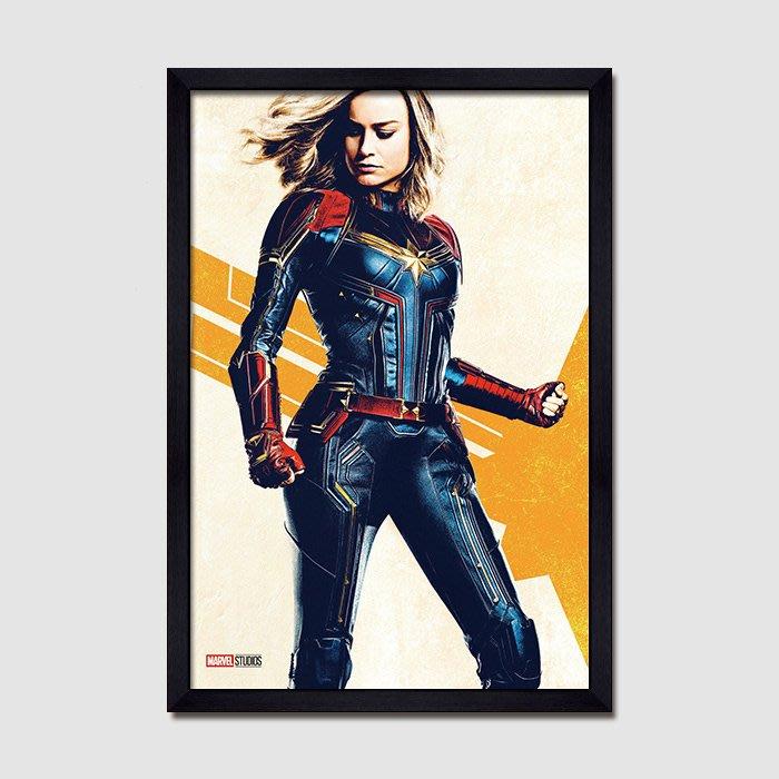 INHUASO 癮|画|所 驚奇隊長Captain Marvel漫威超級英雄人物版畫電影海報掛畫工作室裝飾畫(6款可選)