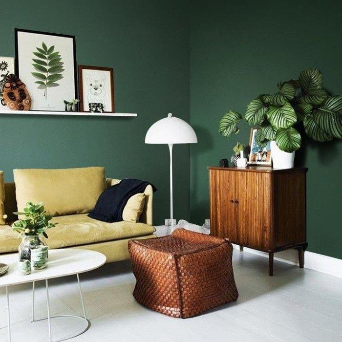 北歐現代純色素色無紡布墨綠色墻紙個性咖啡廳服裝店理發店壁紙wy